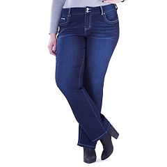 Juniors' Plus Size Amethyst Baby Bootcut Jeans