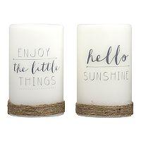 Laura Ashley Lifestyles Sentiments LED Candle 2-piece Set