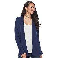 Juniors' SO® Drop Shoulder Rib Sleeve Cardigan