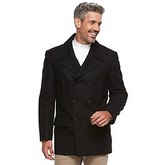 Men's Chaps Wool-Blend Double-Breasted Pea Coat