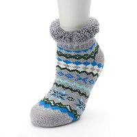 Women's SO® Cozy Warmer Fairisle Slipper Socks