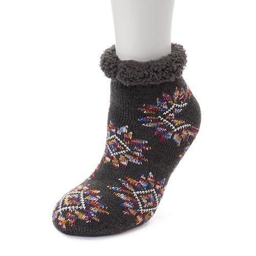 Women's SO® Cozy Warmer Fairisle Critter Slipper Socks