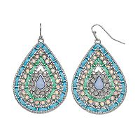 Mudd® Blue Cord Teardrop Earrings