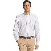 Men's IZOD Essential Regular-Fit Tattersall Checked Button-Down Shirt