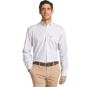 Men's IZOD Essential Regular-Fit Tattersall Checked Button-Down Shirt