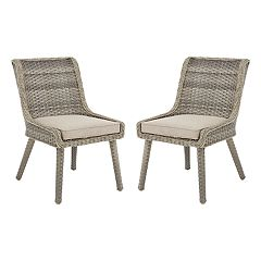 Madison Park Dana Patio Accent Chair 2-piece Set