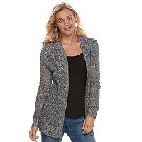 Juniors' SO® Open-Stitch Cardigan Sweater