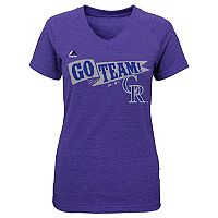 Girls 7-16 Majestic Colorado Rockies Vintage Flag Tee