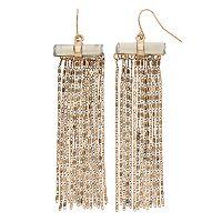 Mudd® Nickel Free Chain Fringe Drop Earrings