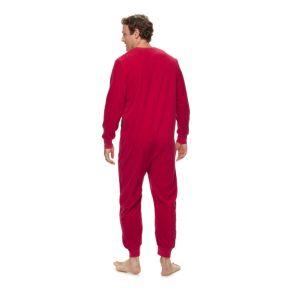 Men's Jammies For Your Families Santa Suit One-Piece Fleece Pajamas