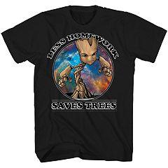 Boys 8-20 Marvel Guardians of the Galaxy Groot Tee