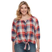 French Laundry Plus Size Button Down Top