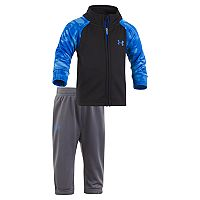 Baby Boy Under Armour Cloudy Grid Mockneck Jacket & Pants Set