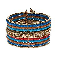 Mudd® Beaded Multi Row Cuff Bracelet