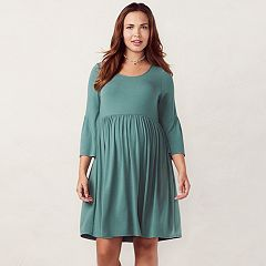 Maternity LC Lauren Conrad Shirred Empire Waistband Dress