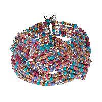 Mudd® Seed Bead Braided Cuff Bracelet