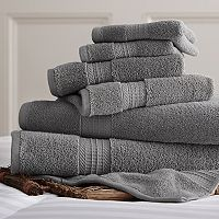 Allure Solid 6-piece Bath Towel Set