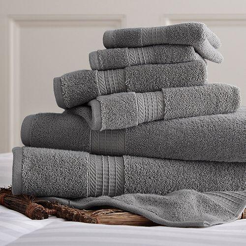 Allure Solid 6-piece Bath Towel Set