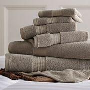 Allure Solid 6 pc Bath Towel Set