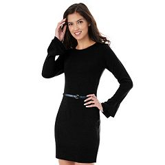 Juniors' IZ Byer Ruffle Sleeve Sweater Dress