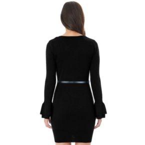 Juniors' IZ Byer Ruffle Sleeve Sweater Dress