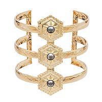 Mudd® Starburst Open Multi Row Cuff Bracelet