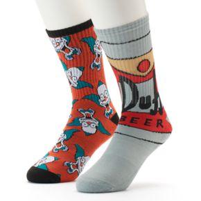 Men's The Simpsons 2-Pack Crew Socks