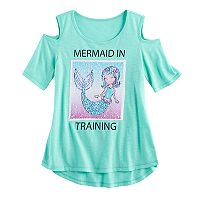 Girls 7-16 SO® Cold Shoulder Two-Way Sequin Tee