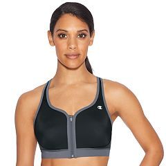 Champion Bras: Absolute Zip High-Impact Sports Bra B1275