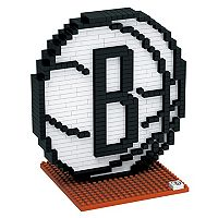 Forever Collectibles Brooklyn Nets BRXLZ 3D Logo Puzzle Set