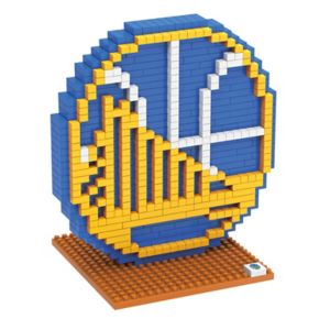 Forever Collectibles Golden State Warriors BRXLZ 3D Logo Puzzle Set