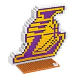Forever Collectibles Los Angeles Lakers BRXLZ 3D Logo Puzzle Set