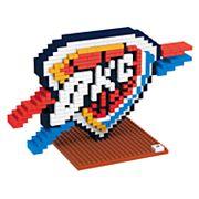 Forever Collectibles Oklahoma City Thunder BRXLZ 3D Logo Puzzle Set