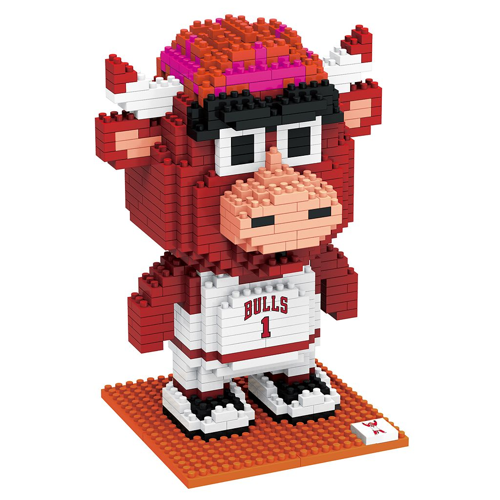 Forever Collectibles Chicago Bulls BRXLZ 3D Mascot Puzzle Set