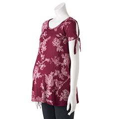 Maternity LC Lauren Conrad Cold-Shoulder Tee