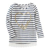 Girls 4-12 OshKosh B'gosh® Striped Foil Tunic