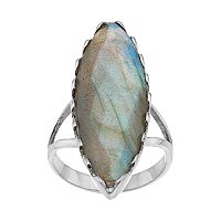 olive & ivy Labradorite Marquise Ring