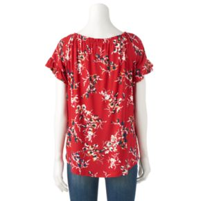 Women's French Laundry Print Smocked Tee