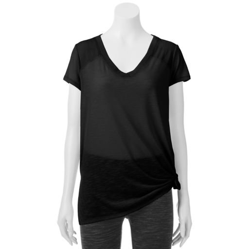 Juniors' SO® Knot Front  Active Tee