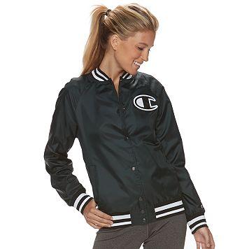 Women's Champion Snap Front Baseball Jacket