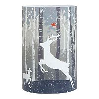 Apothecary Reindeer LED Candle Christmas Table Decor