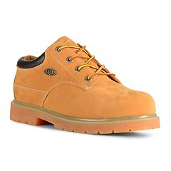 Lugz Drifter Lo Men's Steel Toe Work Boots. Black Golden Wheat