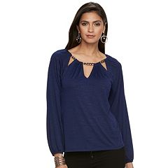 Women's Jennifer Lopez Cutout Chain Top