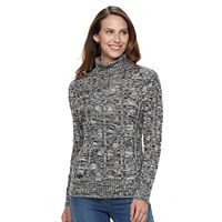 Women's Croft & Barrow® Turtleneck Cable-Knit Sweater