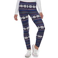 Juniors' SO® Holiday Leggings
