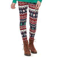 Juniors' SO® Holiday Leggings