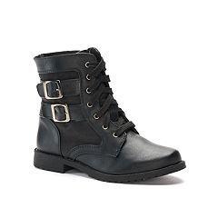 Rachel Shoes Arlington Girls' Combat Boots