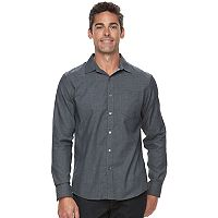 Men's Apt. 9® Slim-Fit Herringbone Stretch Button-Down Shirt