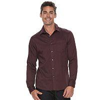 Men's Apt. 9® Slim-Fit Herringbone Stretch Button-Down Shirt