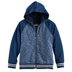 Boys 8-20 Urban Pipeline® Raglan Sherpa-Lined Fleece Hoodie